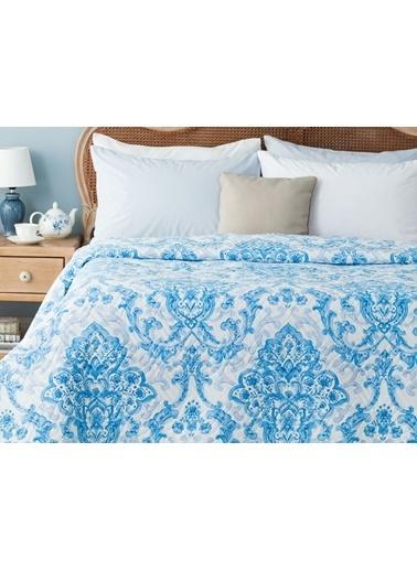Madame Coco Richelle Çok Amaçlı Çift Kişilik Yatak Örtüsü Mavi